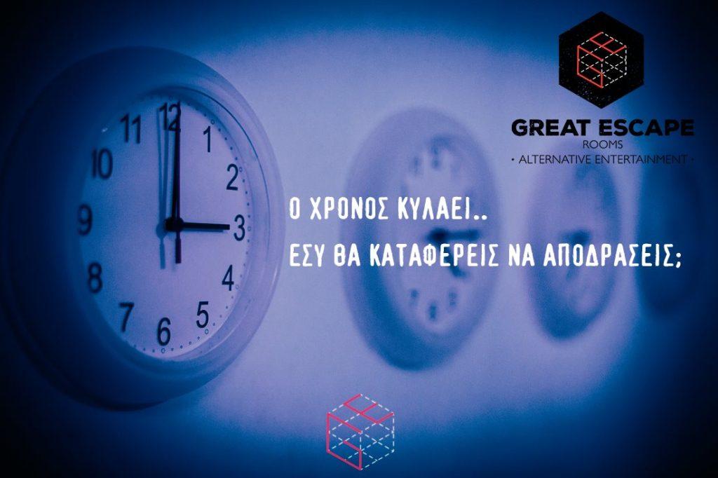 Τα ρολόγια στο Inception Escape Room Θεσσαλονίκη